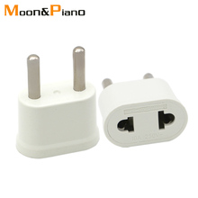 EU Adapter Plug USA to Euro Europe Travel Wall Electrical Power Charge Outlet Sockets US China 2 Round Pin Socket