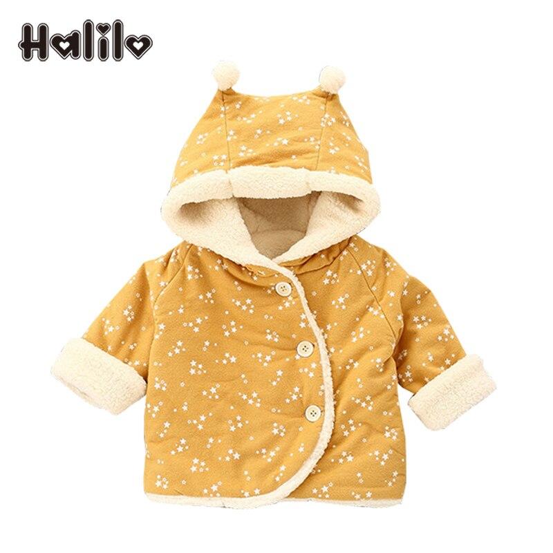 Halilo New Kids Parka Baby Winter Coat Warm Girls Coats And Jackets Baby Girl Clothing Doudoune Enfant Outerwear Girls Snow Coat