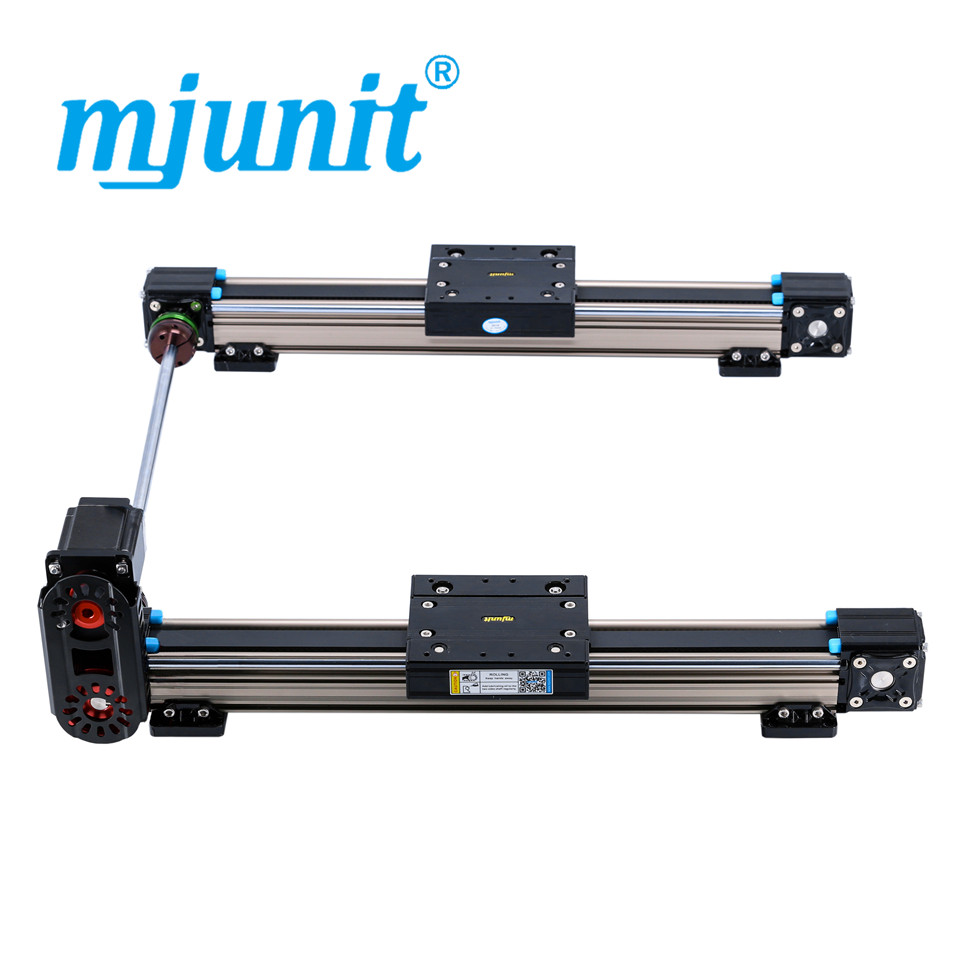 mjunit MJ50 linear motion guide rail, linear guide for cnc machine with 1500mm stroke 2 rails precise linear guide rail 1500mm aluminum linear guide rail
