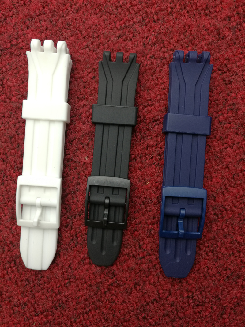 Strap Accessories for Swatch Swatch Strap Silicone Silicone Strap 18mm for Swatch SUIK400 | SUIB400 original nike women s jacket hoodie sportswear