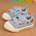 2016 Otoño Nuevos Niños Zapatos de Lona Niños Niñas Zapatillas de deporte Para La Muchacha Niños Zapatos de Color azul Oscuro azul Claro