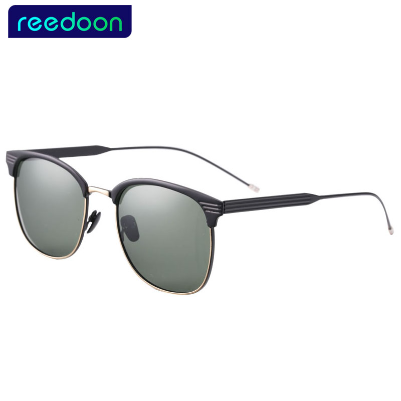 33923331db REEDOON Polarized Men Sunglasses Mirror Oversized Black Square Driver  Fishing Sun Glasses Sports HD Lens Womens Designer Mens-in Sunglasses from  Apparel ...