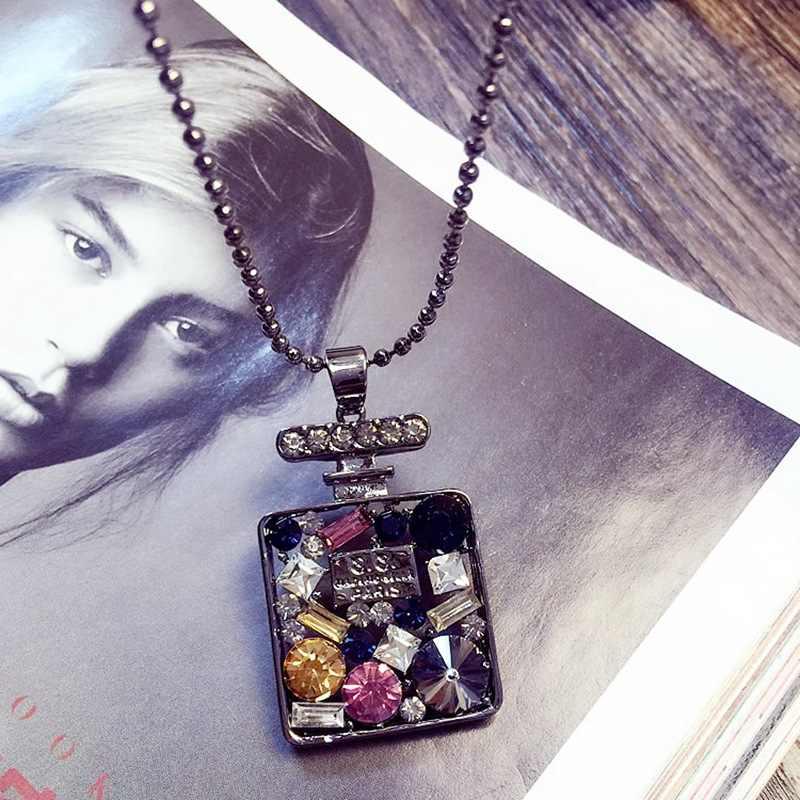 QHQ ожерелья и подвески, цепочка с буквами, колье, длинное ожерелье, ювелирные изделия, модные ювелирные изделия ketting lang, аксессуары