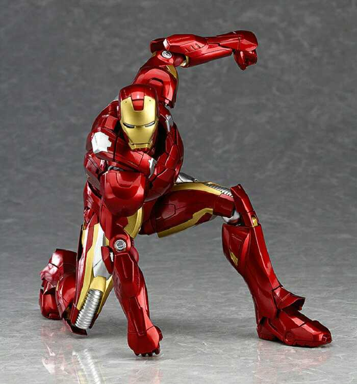 Avengers Figma 217 EX-018 Iron Man MARK 7 MK42 PVC Action Figure Collection Model Toy Christmas Gifts 16cm hot toy 16cm avengers 2 thor loki villain heros action figure collectible pvc model toy movable joints doll for kids gifts