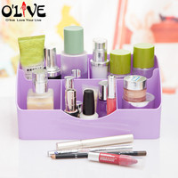 Plastic Cosmetics Organizer Makeup Storage Box With Compartments Make Up Holder Multi Function Storage Containers Small