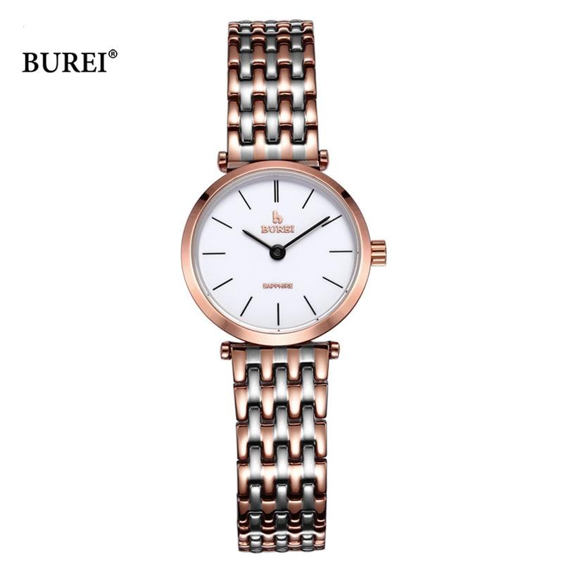 BUREI 2017, женские часы, Топ бренд, роскошные женские кварцевые наручные часы, женские модные водонепроницаемые часы, женские часы, Relogio Feminino - 3