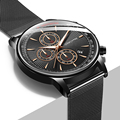 Модные часы для мужчин водонепроницаемые тонкие сетчатые ремешок минималистичные наручные часы для мужчин кварцевые спортивные часы Relogio ...