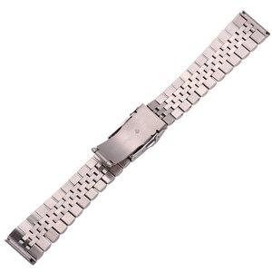 Image 3 - Roestvrij Stalen Horloge Armband Band 20Mm 22Mm 24Mm Vrouwen Mannen Zilver Solid Metal Watch Band Strap Accessoires