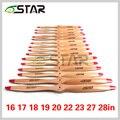 6 звезда самолет дзю древесины стандартный винт 16 17 18 19 20, 21, 22, 23 и 27, 28 дюйм(ов) для DLE or other gas engine, весло