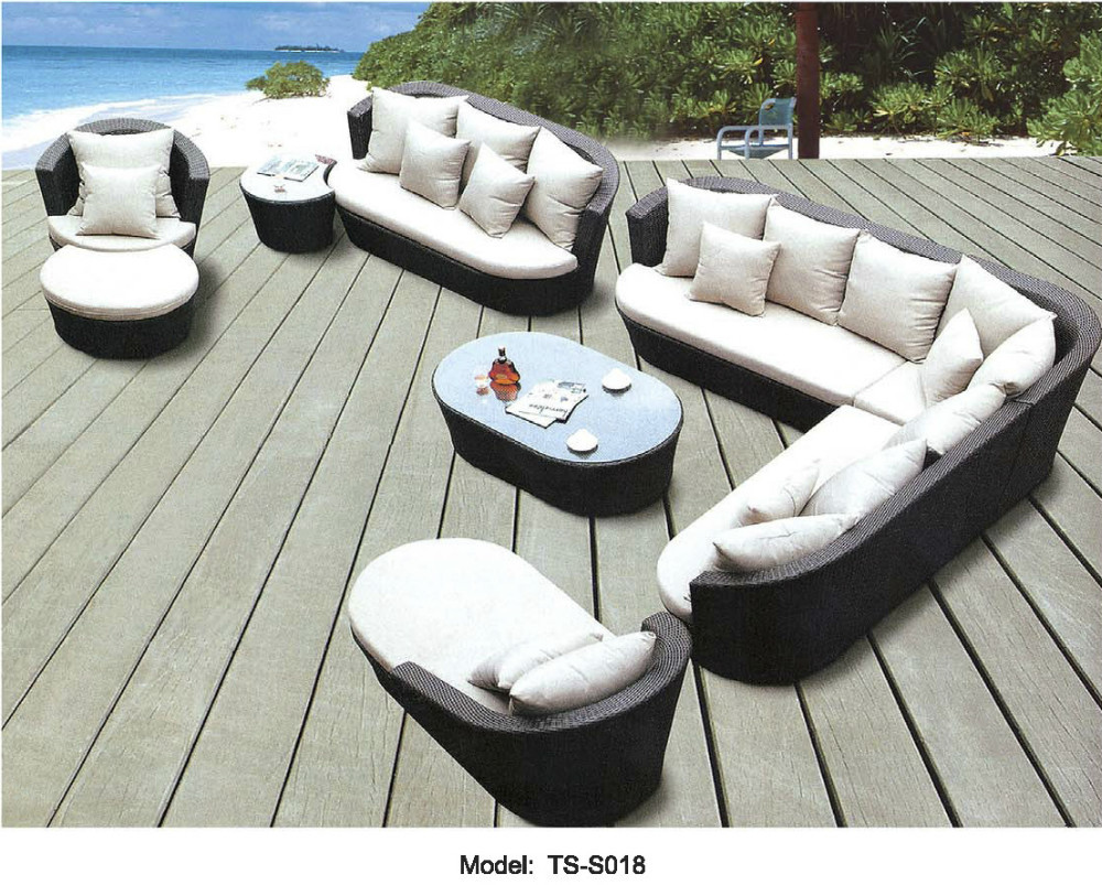 Outdoor Or Indoor Swiming Pool Sofa Set New Wicker Rattan Furniture Lounge Setting Chair