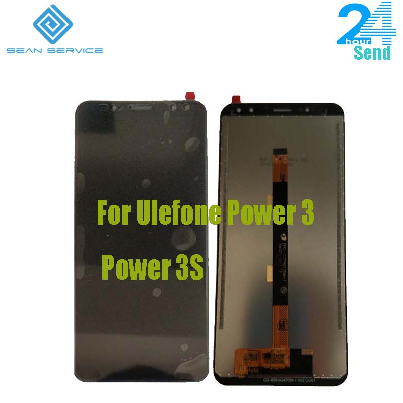 For Original Ulefone Power 3 LCD Display +Touch Screen Digitizer Assembly Replacement Parts 2160*1080P For Ulefone Power 3S 6.0