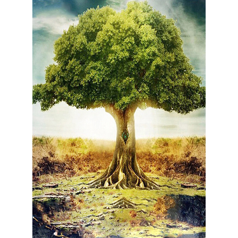 5D DIY Diamond Painting Scenery tree Cross Stitch landscape diamond Embroidery rhinestones  gift