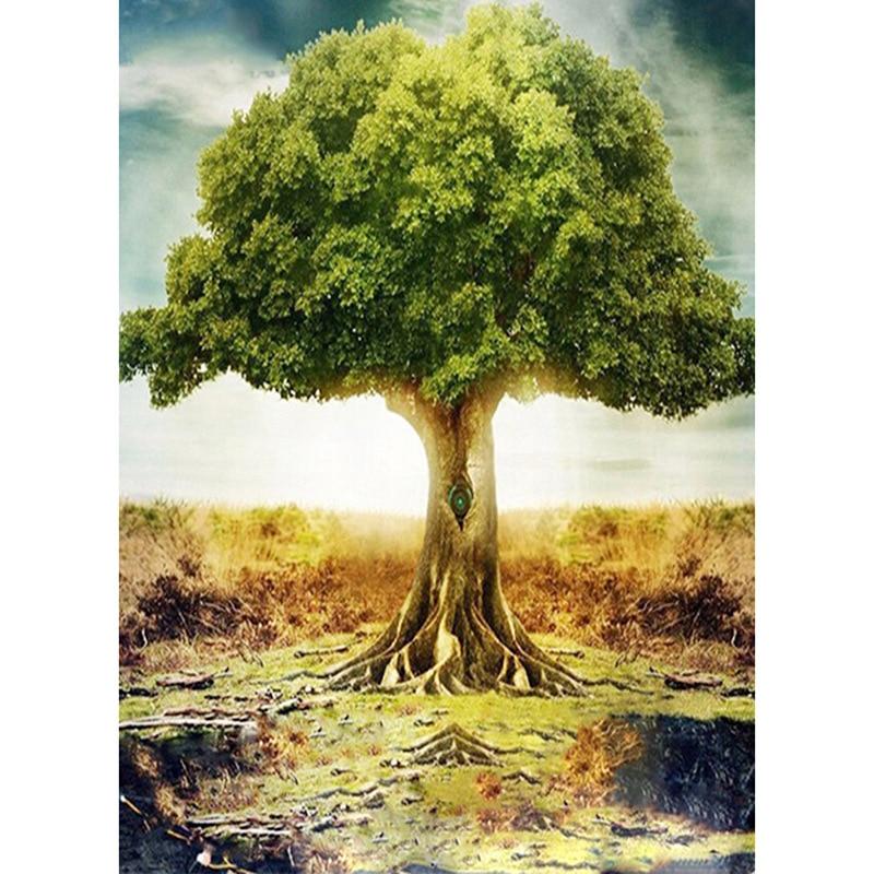 5D DIY Diamond Painting Scenery tree Cross Stitch landscape diamond Embroidery rhinestones  gift
