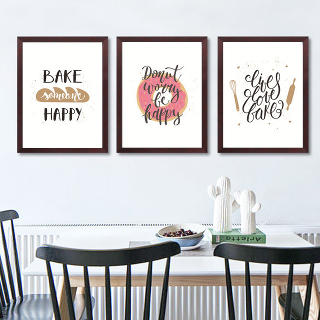 305 42 De Descuentodibujos Animados Abstracto Arte De Cocina Pintura Lienzo Impresiones Imágenes De La Pared Para El Comedor Cocina Decoración