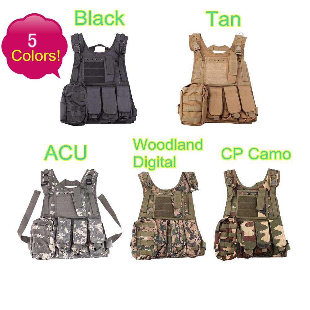 Airsoft CS Paintball Tactical Hunting Combat Assault Vest Outdoor Hunting Waistcoat Military Vest Safety Clothing SWAT Vest tactical hunting airsoft paintball hunting combat assault vest outdoor training hunting waistcoat military vest safety clothing