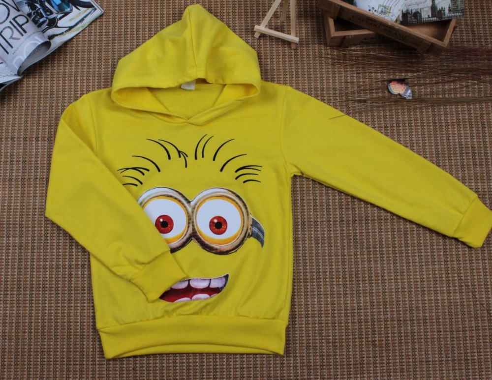 HTB1ezb6azgy uJjSZKbq6xXkXXaA - Boy or Girl's High Quality Cotton Hoodie T-Shirts Cartoon Minion Print Design