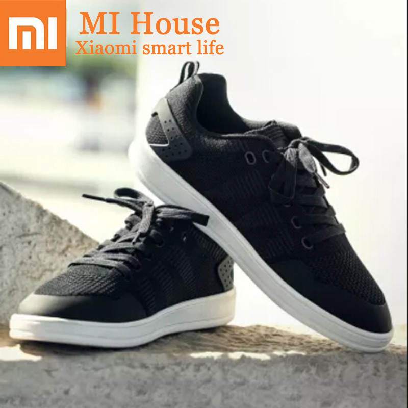 Xiaomi 90 Fun Knitted Skateboard Shoes Comfortable And Breathable Splash Proof Water Casual Shoes Men And