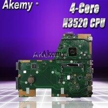 Akemy X551MA материнская плата для ноутбука ASUS X551MA X551M X551 F551MA D550M Тесты Оригинал материнская плата N3520 4-Core Процессор