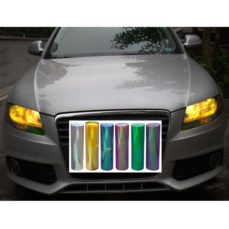 30cm*9M Shiny Chameleon Auto Car Styling headlights Taillights film lights Turned Tint Vinyl Car film Stickers Hot Sale