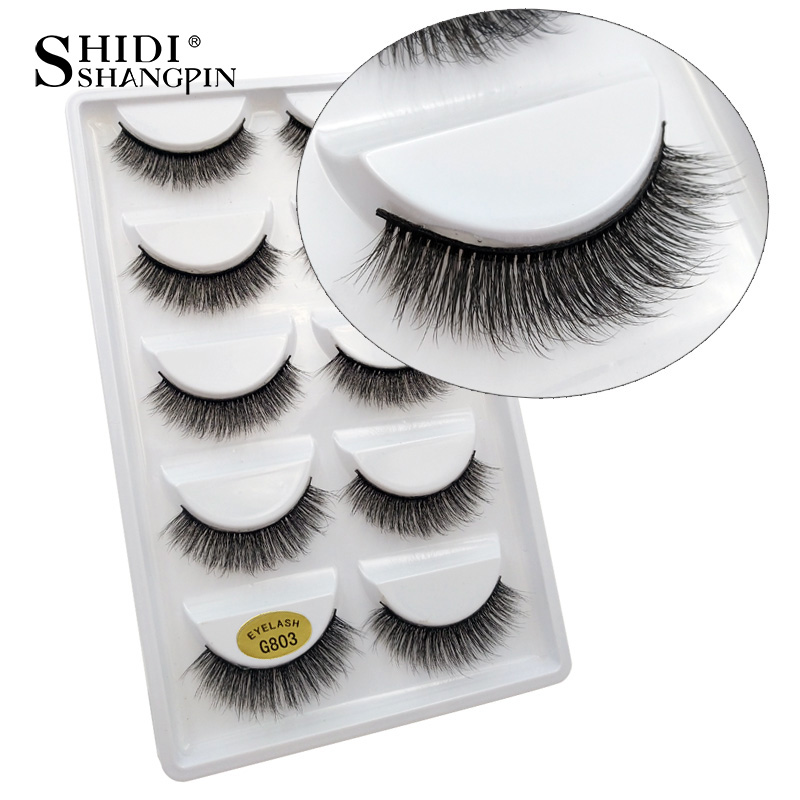 Image 4 - 10 lots wholesale price mink eyelashes hand made false eyelash natural long 3d mink lashes makeup natural false lashes in bulk-in False Eyelashes from Beauty & Health