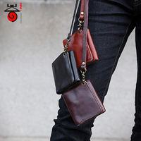 2017 New Fashion 100 Genuine Leather Wallet Men Cowhide Top Quality Vintage Multifunction Small Male Purse