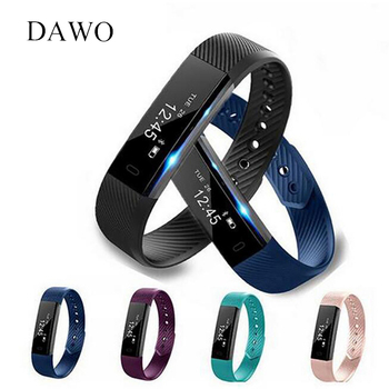 DAWO Fitness Watch Pedometer Fitness Bracelet Passometer Smart Bracelet 115 Smart Band Hembeer Step Counter Smart Band