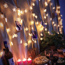 10Leds Christmas Tree Snow Flakes Led String Fairy Light Xmas Party Home Wedding Garden Garland Christmas Led Lights Decoration