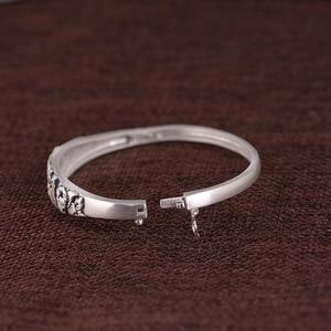 Image 4 - V.YA brazalete de plata de ley 999, brazalete de plata de imitación, Estilo Vintage tailandés de plata, buena suerte