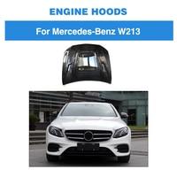 Carbon Fiber Auto Engine Hood Boonet Cap Cover For Benz W213 E250 E350 E43 AMG 2016 2017 2018
