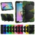 Caso Tablet Luxo À Prova de Choque Rugged Hard Stand W/Bulit-em Frente película protetora armadura capa para samsung galaxy tab e t560 9.6