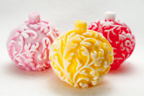 Ball on the Christmas tree forest Christmas toy candle mould silicone soap mold doll christmas gifts cake decorating mold