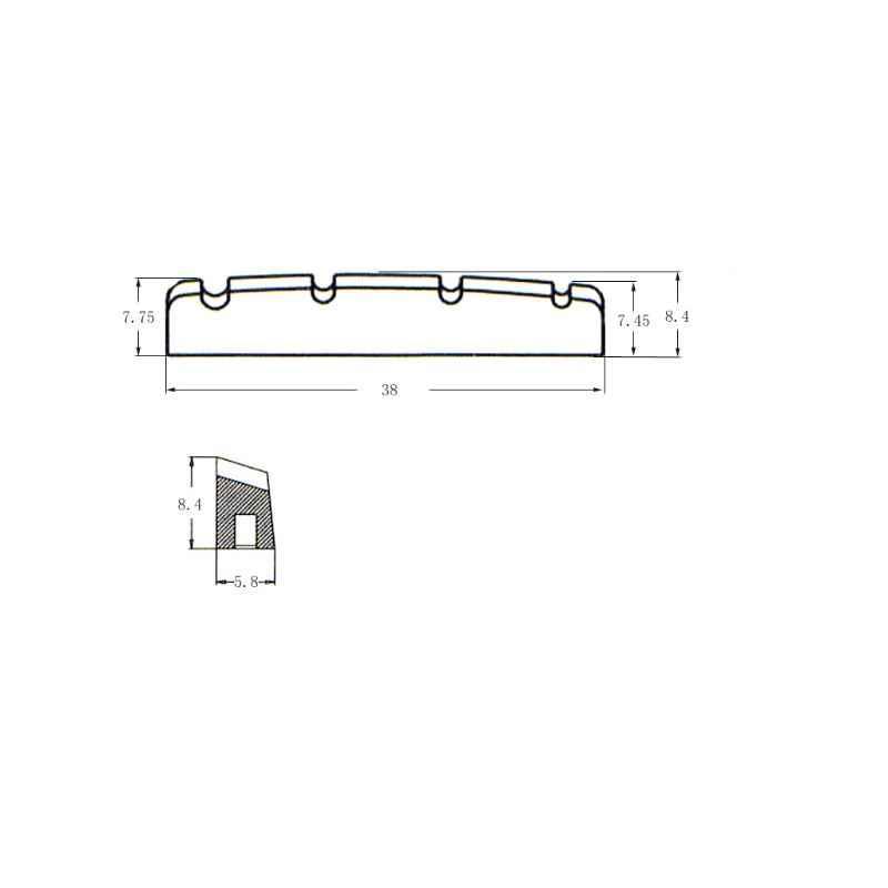 2 pcs 4 מחרוזת חשמלי בס למעלה אגוזי חורץ 38mm 44mm החלפת חלקים
