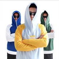3 Renkler Açık Balıkçılık Giyim Hızlı Kuru Nefes Güneş Koruyucu Sivrisinek Sokması Erkekler Spor Ceket Işık Kapüşonlu Balıkçılık Kıyafetleri