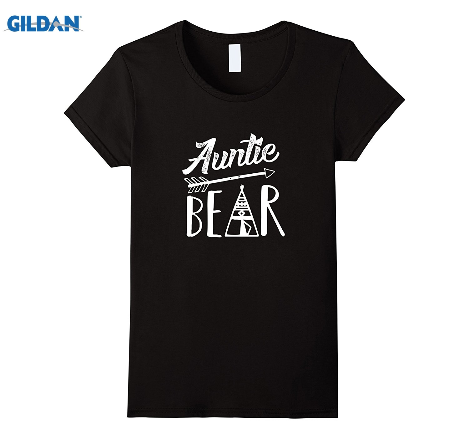 GILDAN Womens Auntie Bear Aunt T-Shirt Mother Mothers Day T Shirt Tee summer dress T-shirt