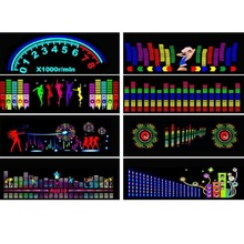 цена на 1set 90X25CM Car Sticker Music Sound Rhythm LED Flash Light Lamp Sound Activated Equalizer Rear Window Styling Cool Sticker