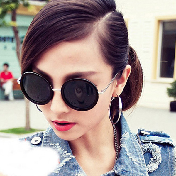 e761f8b6f Korean Lovely Cute 2015 Womens Sunglasses Big Round Glasses Women Brand  Designer Vintage Sun Glasses Woman Cycling Eyeglasses