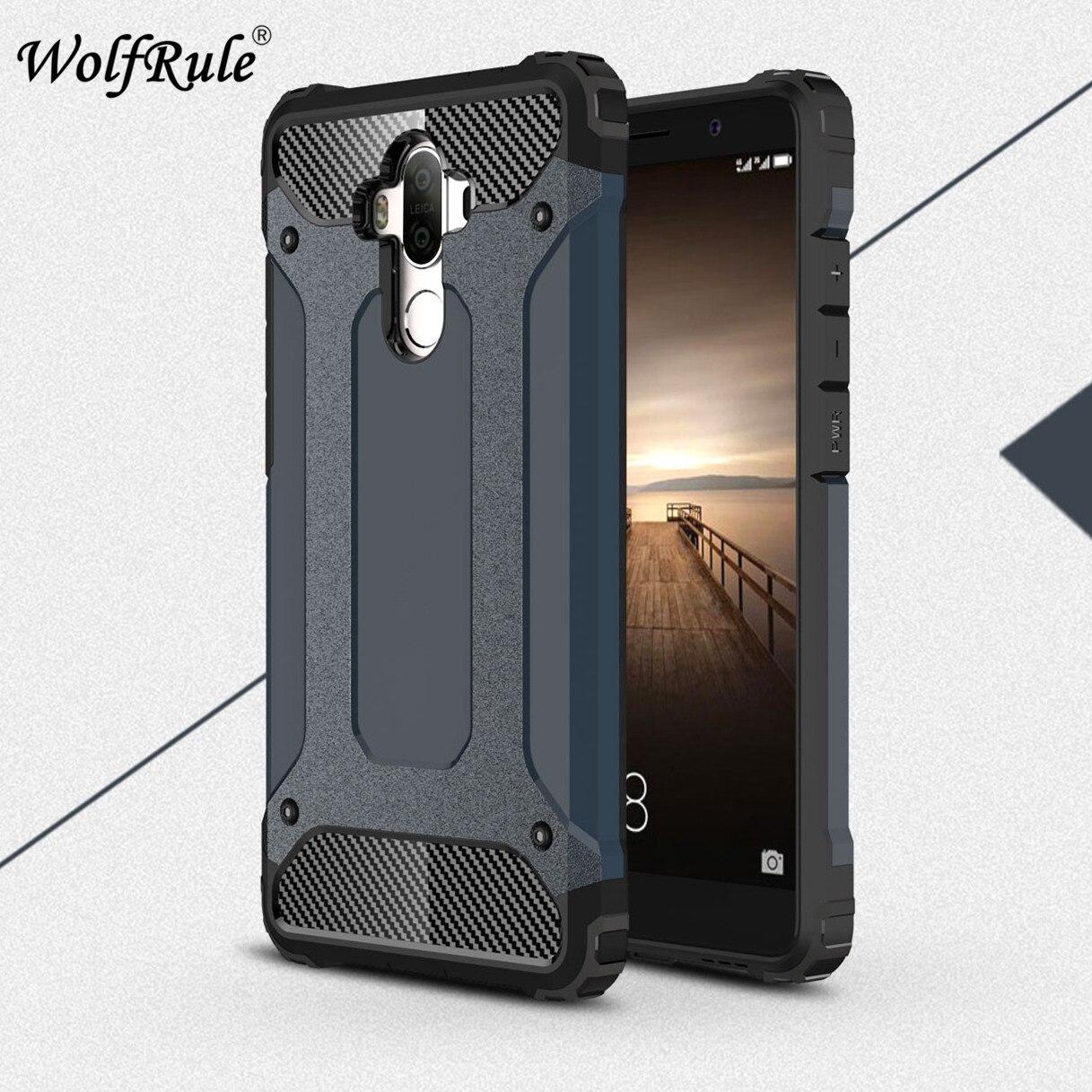 Wolfrole чехол для телефона Huawei Mate 9 Funda противоударный силиконовый + пластиковый деловой чехол для Huawei Mate 9 чехол Huawei Mate 9 Funda