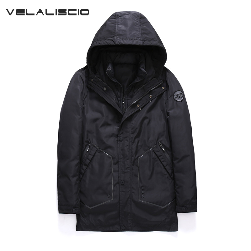 VELALISCIO 2017 Brand New Winter coat for men's park For men Thick warm Two pieces jacket plus Sizes M-3XL winter jacket For men таета б у волгоград