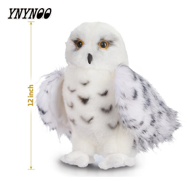 YNYNOO Kids Children Adult Lovely Toys Premium Quality Snowy White Plush Hedwig Owl Toy 12 inch tall Adorable Stuffed Animal
