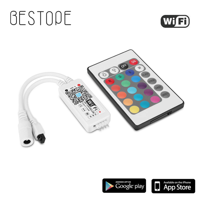 WIFI RGB LED RGBW Controller IR รีโมทคอนโทรลแบตเตอรี่สำหรับ DC 12V RGB 2835 5050 LED Strip โมดูลไฟ LED light