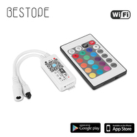 WIFI RGB RGBW LED Controller Mit IR Fernbedienung Mit Batterie Für DC 12V RGB 2835 5050 LED Streifen licht LED-Module licht