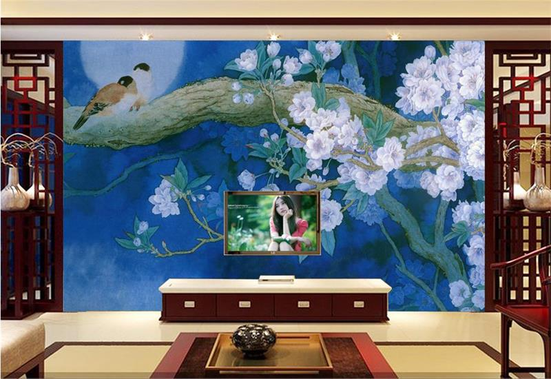 ᗐcustom 3d foto behang kamer muurschildering non woven sticker
