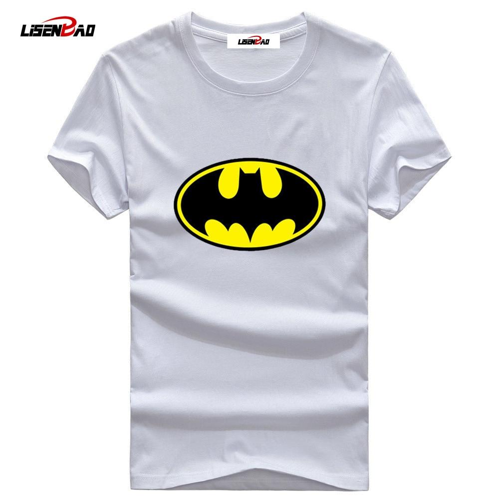5XL Batman T shirt Hombres 2018 marca Tide O-cuello Hombre Manga - Ropa de hombre