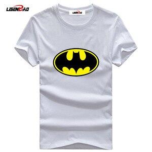 5XL Batman T shirt Men 2018 Tide brand O-Neck Men Short sleeve Batman T shirt Casual Fashion Big Size Printing Shirt Batman