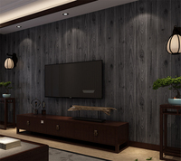 Beibehang Papel De Parede Wood Grain Wallpaper Wood Color Garment Shop Restaurant Corridor Background Wallpaper For