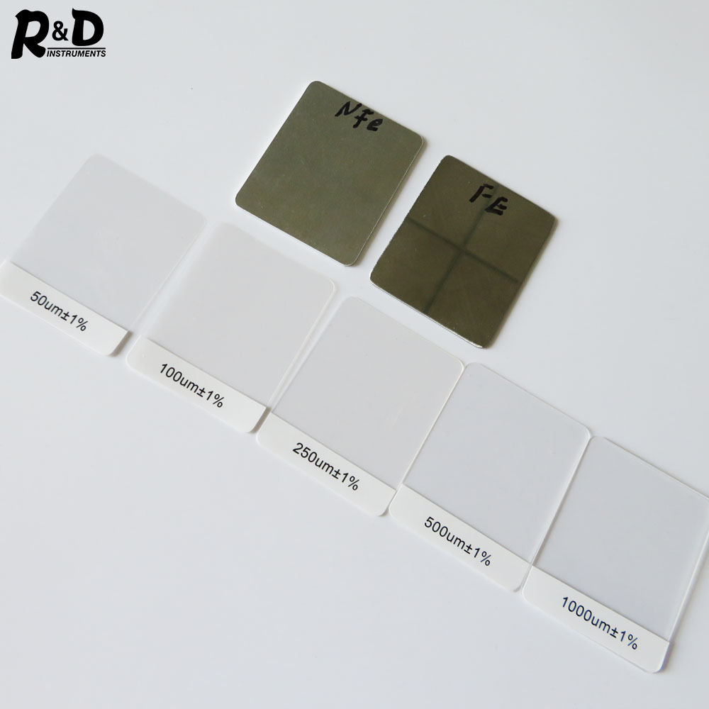 R&D Coating Thickness Films Calibration For Coating Thickness Gauge Standard Foil Set Calibration Set For TC100/200&GM998