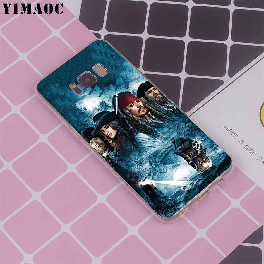 YIMAOC Caribbean Captain Jack Sparrow Soft Silicone Case for Galaxy A5 2017 A8 2018 J3 J5 2016 J7 2017 EU S7 Edge S8 S9 Plus