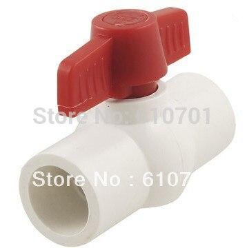 1)Plumbing Shut Off PVC 20/25/32/40/50/63mm SlipxSlip Full Port Plastic Ball Valve Water 1/2