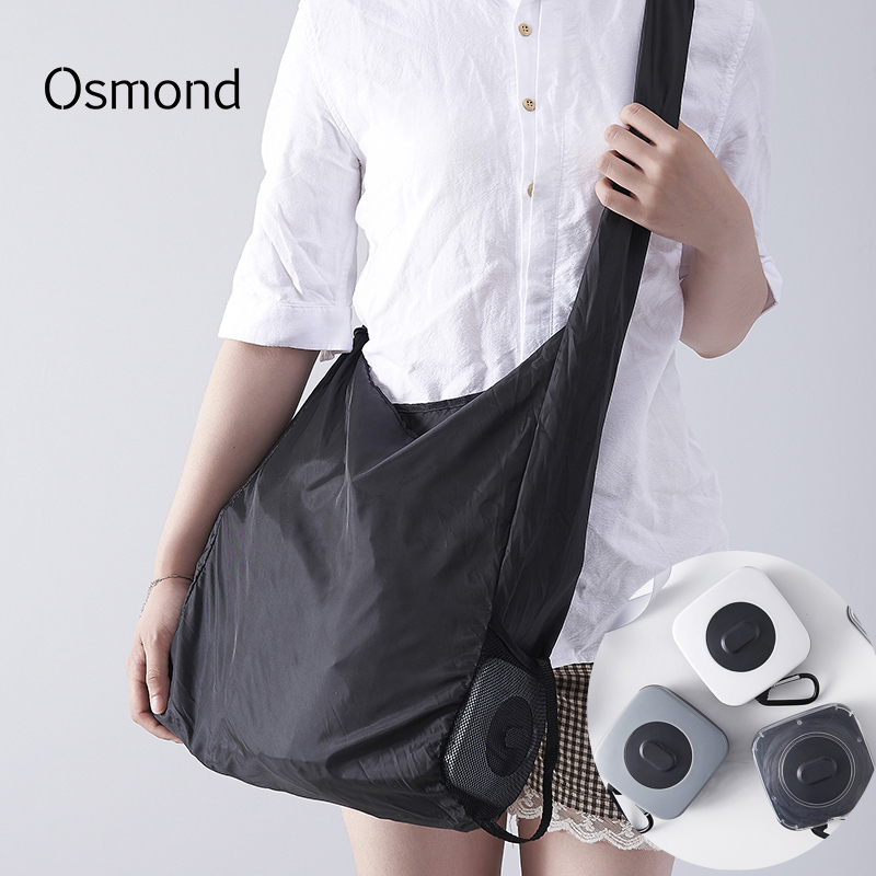 Osmond Recycle Shopping Bag Portable Large Capacity Reusable Shopper Grocery Bag Storage Handbags Eco-friendly Nylon Bag Disco