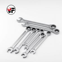YOFE 8,10,12,13,14,15,17,19mm Ratchet Spanner Combination wrench a set of keys gear ring tool ratchet handle Chrome Vanadium